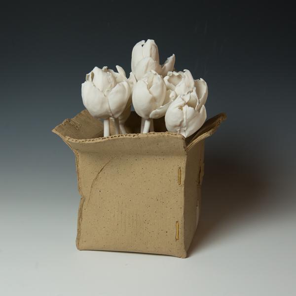 "Keok (KB) Lim KB Lim, Tulip Boxes, porcelain, 5.5 x 7"" dia"