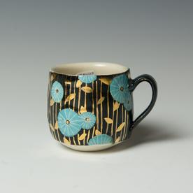"""Stephanie Wilhelm Stephanie Wilhelm, Espresso Cup, porcelain, gold luster, 2.5 x 3.5"""""""