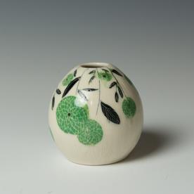 """Stephanie Wilhelm Stephanie Wilhelm, Small Bud Vase, porcelain, gold luster, 3.5 x 3.5"""""""