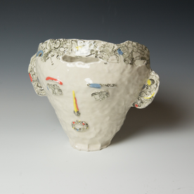 "Yeonsoo Kim Yeonsoo Kim, Head, porcelain, 10 x 12.75 x 8.5"""