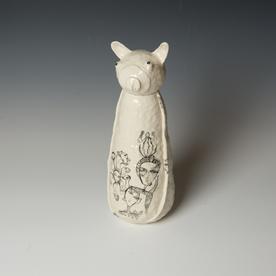 "Yeonsoo Kim Yeonsoo Kim, Animal Sculpture, porcelain, 12 x 4.25 x 5"""