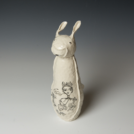 "Yeonsoo Kim Yeonsoo Kim, Animal Sculpture, porcelain, 12.75 x 4.25 x 6.5"""