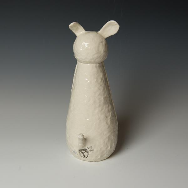 "Yeonsoo Kim Yeonsoo Kim, Animal Sculpture, pinched, porcelain, 12.25 x 5 x 6.25"""