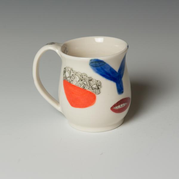 "Yeonsoo Kim Yeonsoo Kim, Mug, porcelain, 3.75 x 4.5 x 3.75"""