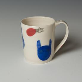 "Yeonsoo Kim Yeonsoo Kim, Mug, porcelain, 4 x 4.75 x 3.5"""