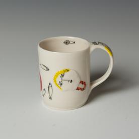 "Yeonsoo Kim Yeonsoo Kim, Mug, porcelain, 3.5 x 4.25 x 3"""
