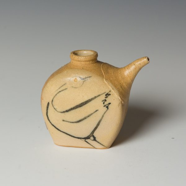 Michael Simon Michael Simon, Soy Bottle, stoneware, glaze, slip, salt-fired, 4.75 x 4.75""