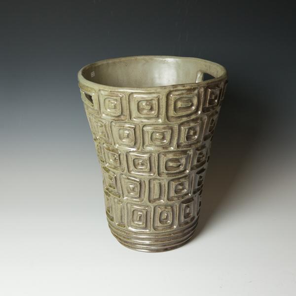 """Courtney Martin Courtney Martin, Grey Tall Basket, stoneware, 15.25 x 11.25"""" dia."""