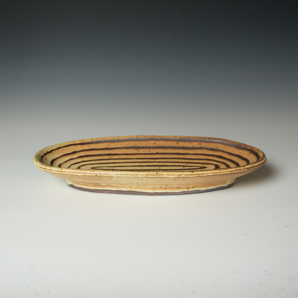 "Courtney Martin Courtney Martin, Oval Platter, stoneware, 2.25 x 16 x 7.75"""