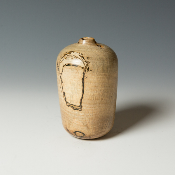 """Marc Granberry Marc Granberry, Spalted Pecan, 5 tall x 3"""" dia"""