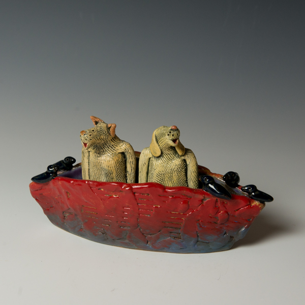 Barry Gregg Barry Gregg, Three Dog Bark Ark, handbuilt earthenware, glaze