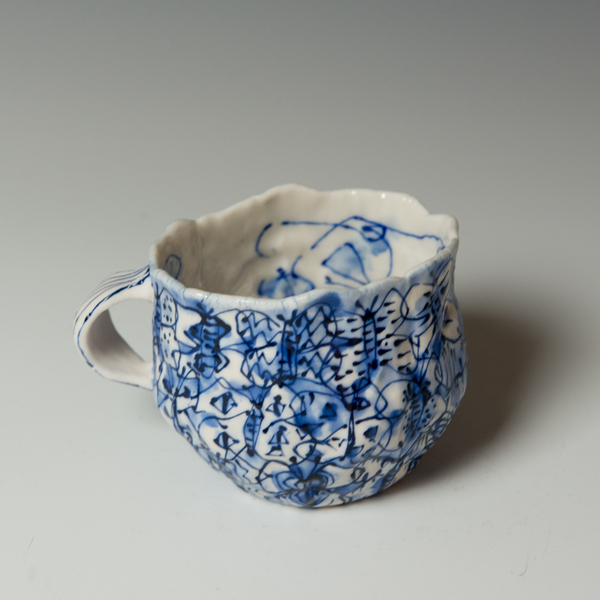 Keok (KB) Lim, Butterfly Mug, stoneware