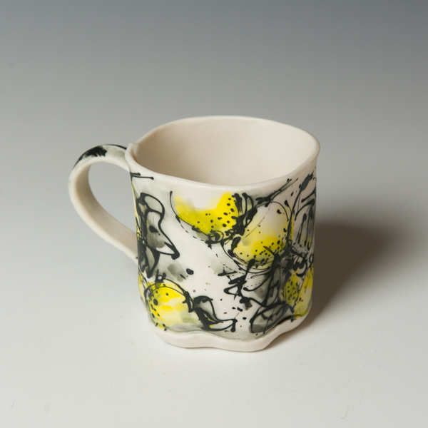 """Keok (KB) Lim, Lemon Mug, stoneware,  3.5 x 5.25 x 3.5"""""""