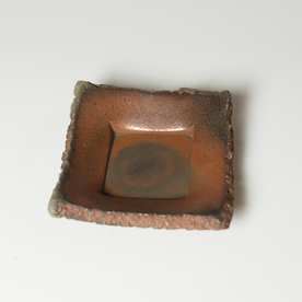 "Simon Levin Simon Levin, Press Plate,  woodfired, 2 x 5.5 x 5.75"""