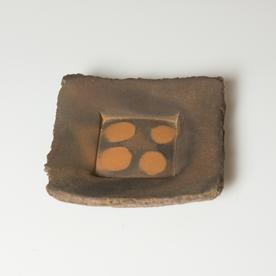"Simon Levin Simon Levin, Press Plate,  woodfired, 1.75 x 6 x 5.75"""
