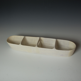 Maggie Jaszczak Maggie Jaszczak, Large Trough, reduction fired earthenware, 4.25 x 25 x 5.5""