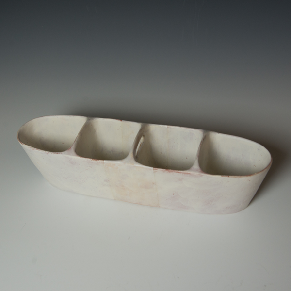 Maggie Jaszczak Maggie Jaszczak, Small Trough, reduction fired earthenware, 4.75 x 17.5 x 4.25""