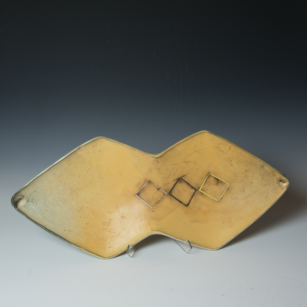 Tom Jaszczak Tom Jaszczak, Double Diamond Tray, sodafired earthenware, slip, underglaze