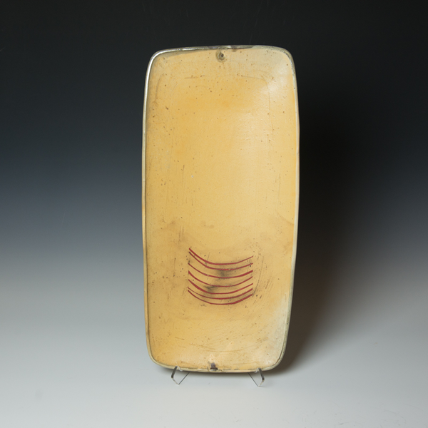 Tom Jaszczak Tom Jaszczak, Long Rectangle Tray, sodafired earthenware, slip, underglaze