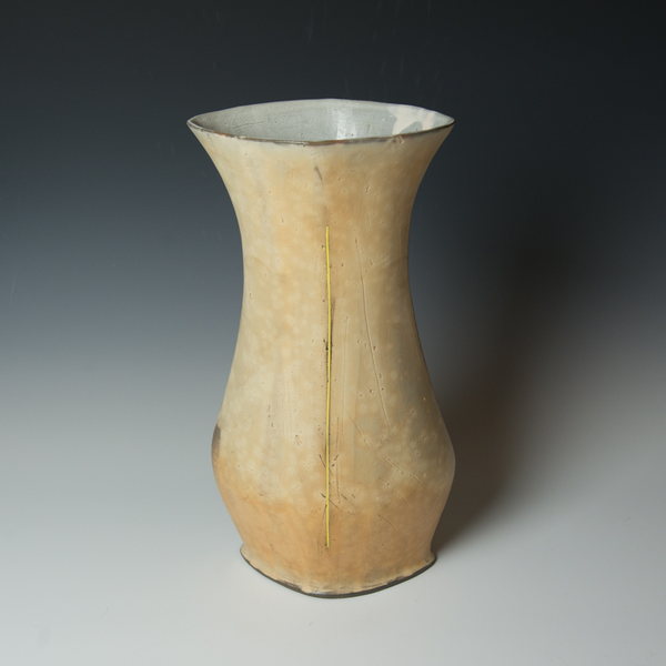Tom Jaszczak Tom Jaszczak, Diamond Vase, sodafired earthenware, slip, underglaze