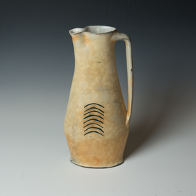Tom Jaszczak Tom Jaszczak, Oval Pitcher, soda-fired earthenware, slip, underglaze