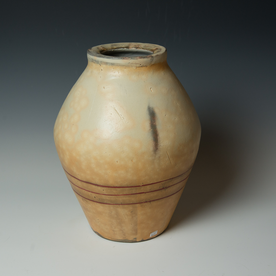Tom Jaszczak Tom Jaszczak, Wide Rim Jar, soda-fired earthenware, slip, underglaze