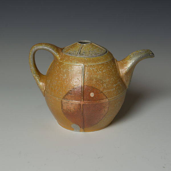 """Kenyon Hansen Kenyon Hansen, Teapot, soda-fired stoneware, 6.5 x 9.25 x  6.25"""""""