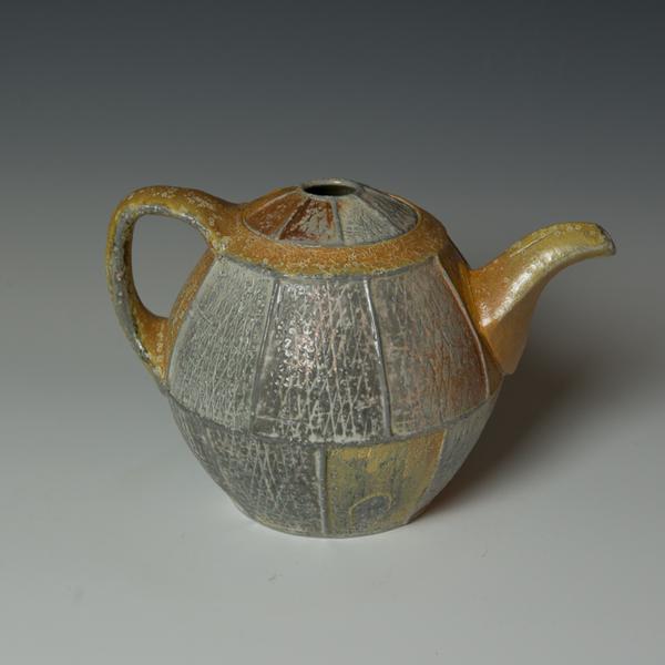 """Kenyon Hansen Kenyon Hansen, Teapot, soda-fired stoneware, 6.75 x 9.5 x  7.5"""""""