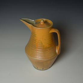 Kenyon Hansen Kenyon Hansen, Covered Pitcher, soda-fired stoneware, 11.25 x 8.75 x  7.5""