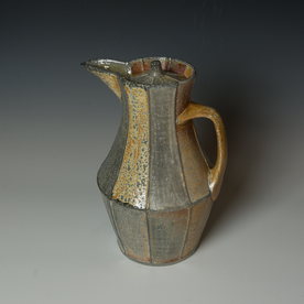 Kenyon Hansen Kenyon Hansen, Covered Pitcher, soda-fired stoneware, 12.25 x 9 x  8""