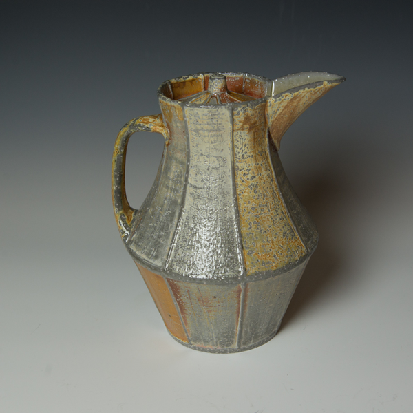 Kenyon Hansen Kenyon Hansen, Covered Pitcher, soda-fired stoneware, 10.5 x 8.75 x  8""