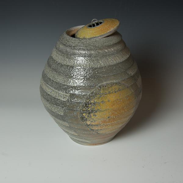 """Kenyon Hansen Kenyon Hansen, Orb Jar, soda-fired stoneware, 14 x 10.5"""" dia."""