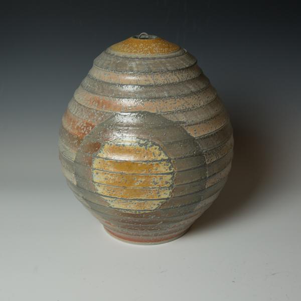 """Kenyon Hansen Kenyon Hansen, Orb Jar, soda-fired stoneware, 13.75 x 10.25"""""""