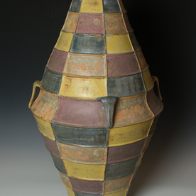 Kenyon Hansen Kenyon Hansen, Covered Jar, earthenware, 33 x 15.75""