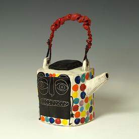"Kurt Anderson Kurt Anderson, Teapot w/Critter, stoneware, 10 x 6.75 x 4.75"""