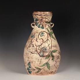 Maria Dondero Maria Dondero, Oval Coil Jar, earthenware