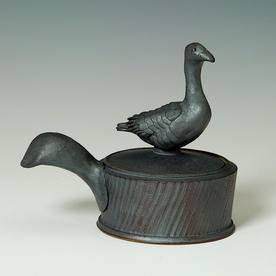 """Steve Godfrey Steve Godfrey, Grey Goose Salt Cellar, stoneware, 5.5 x 6.25 x 4"""""""