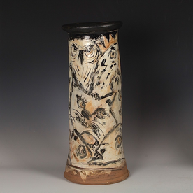 """Ron Meyers Ron Meyers, Vase with All the Usual Suspects, 17 x 7.5"""""""