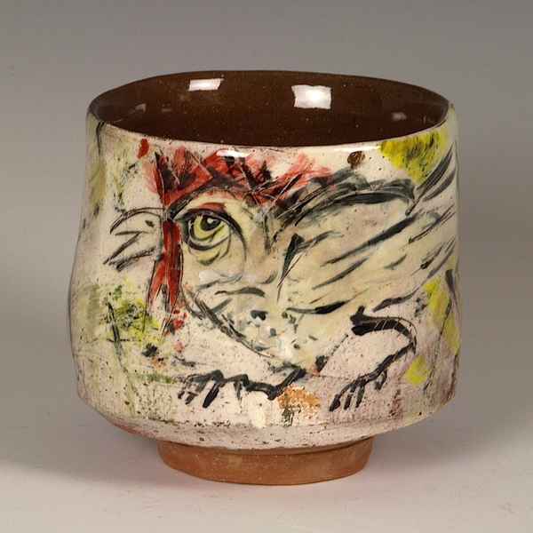 Ron Meyers Ron Meyers, Bowl w/Chicken, 4.25 x 4.25""
