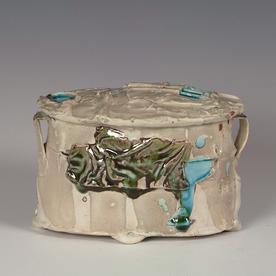 """Ted Saupe Ted Saupe, Oval Box, porcelain, glaze, 4.5 x 6.5 x 4.5"""""""