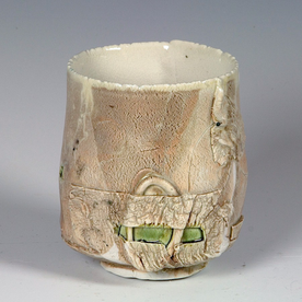 Ted Saupe Ted Saupe, Yunomi, porcelain, glaze, 4 x 3.25""