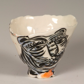 """Sunkoo Yuh Sunkoo Yuh, Tiger Cup, translucent porcelain, 2.75 x 3.5"""""""