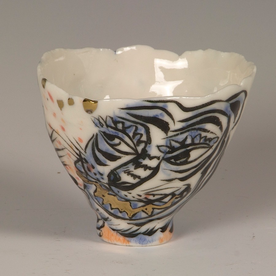 """Sunkoo Yuh Sunkoo Yuh, Tiger Cup, translucent porcelain, 2.5 x 3.25"""""""