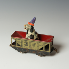 "Barry Gregg Barry Gregg, Party of One Train, handbuilt earthenware, glaze, 5.5 x 6.75 x 2"""