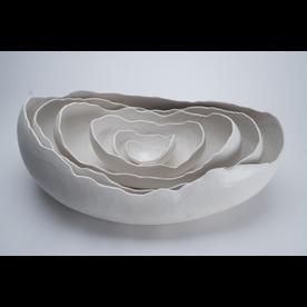 Kate Tremel Kate Tremel, Lg White Oval Egg Nest