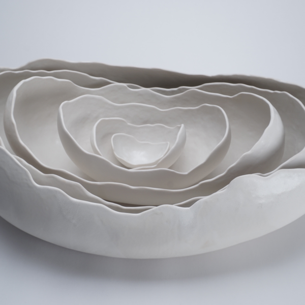 Kate Tremel Kate Tremel, Lg White Oval Egg Nest