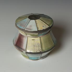 """Kenyon Hansen Kenyon Hansen, Box, porcelain, glaze, 5.75 x 6"""" dia."""