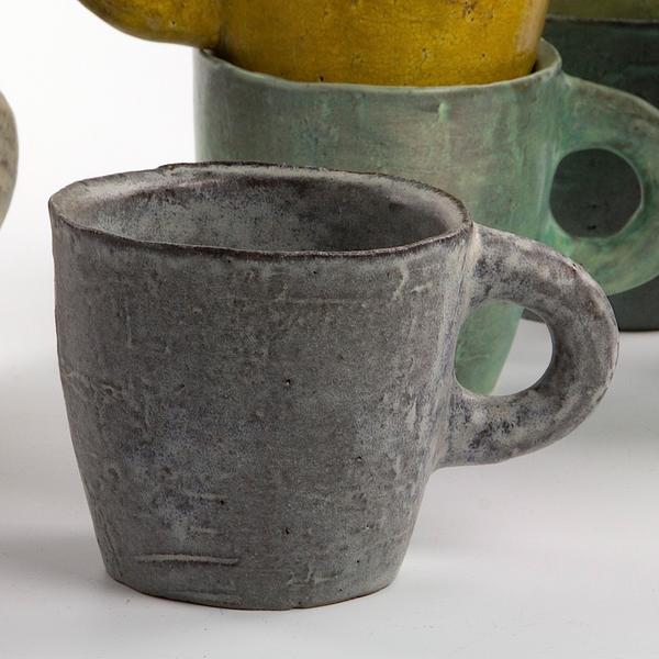 "Joe Pintz Joe Pintz, Mug, handbuilt earthenware, 3.25 x 5 x 3.5"""