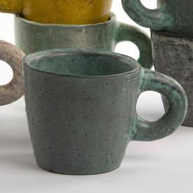 "Joe Pintz Joe Pintz, Mug, handbuilt earthenware,3.25 x 5 x 3.5"""