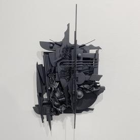 "Peter Pittman Peter Pittman, miniatures [maquettes] series I.c _ I, wood, vinyl, fabric, metal, paint, 15 x 9.5 x 3.5"""